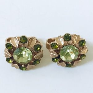 Avon Rhinestone Clip Earrings